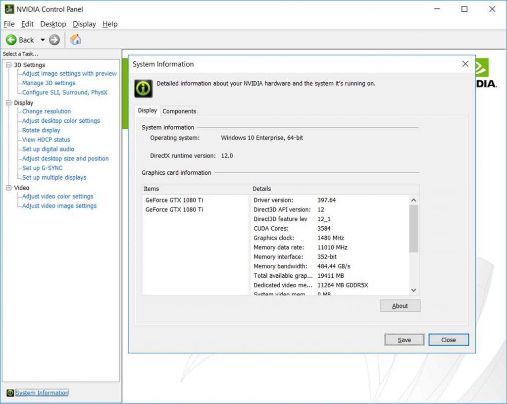 Nvidia control panel screenshot 5